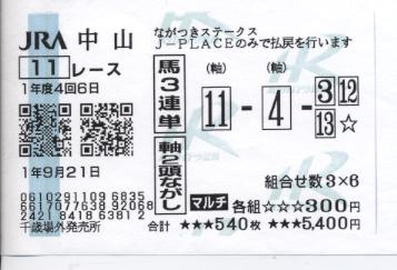 中山11レース