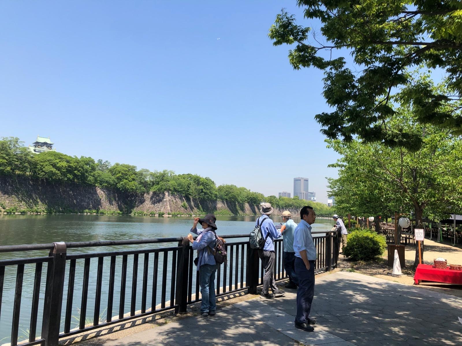 大阪城も見えます。