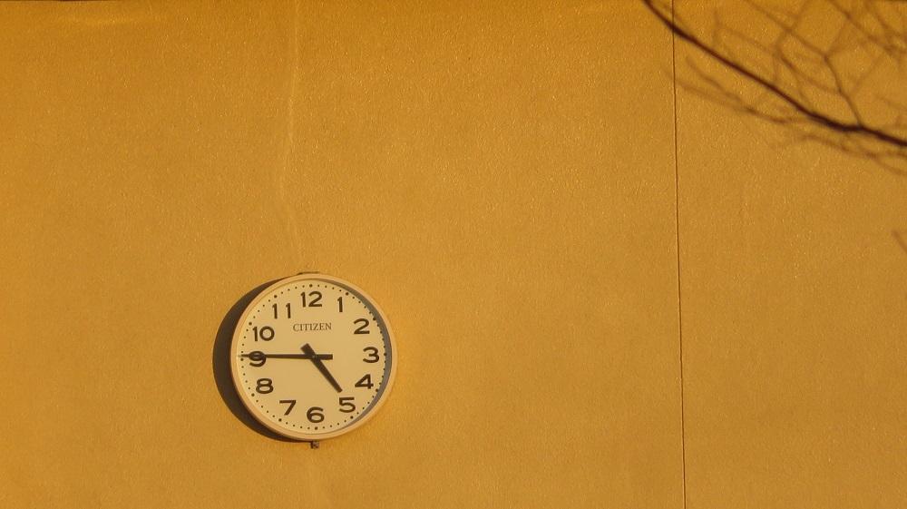校舎の時計IMG_5679