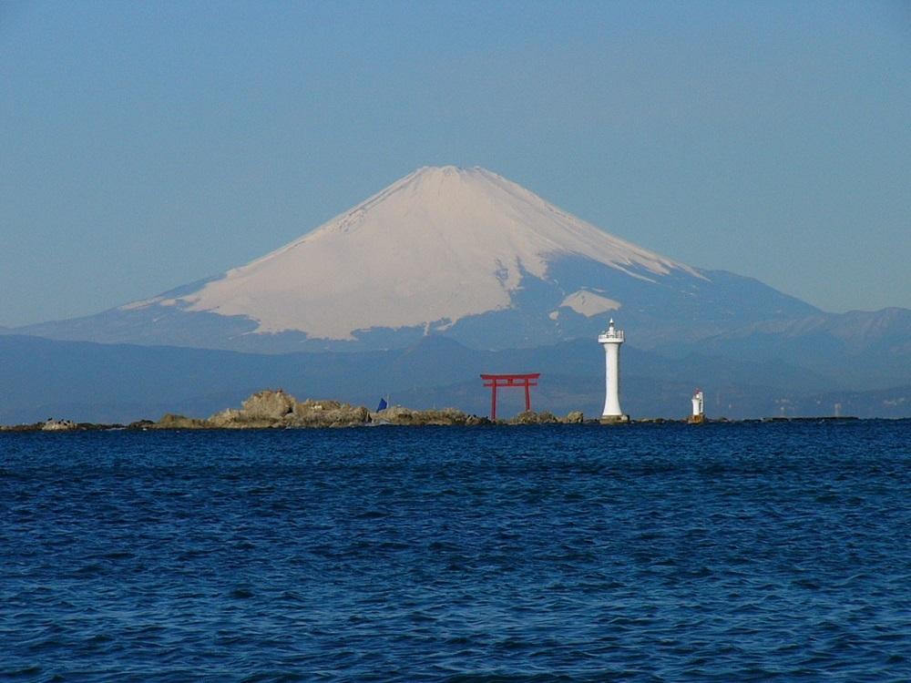 富士と灯台P1000713