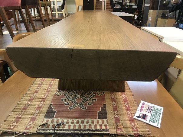 ACTUS特大天然木テーブル (5)