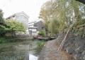 八幡堀と昔の家屋