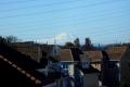 駐車場から見る富士