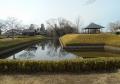 難波田城公園・復元された掘割