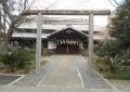 朝日天神神社・鳥居と拝殿