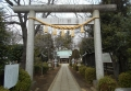 長宮氷川神社(神明系の鳥居)