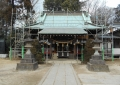長宮氷川神社・拝殿の足場