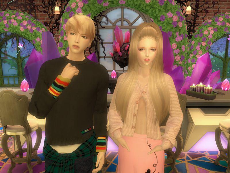 〔Sims4〕アリアナ・グランデとトロイ・シヴァン