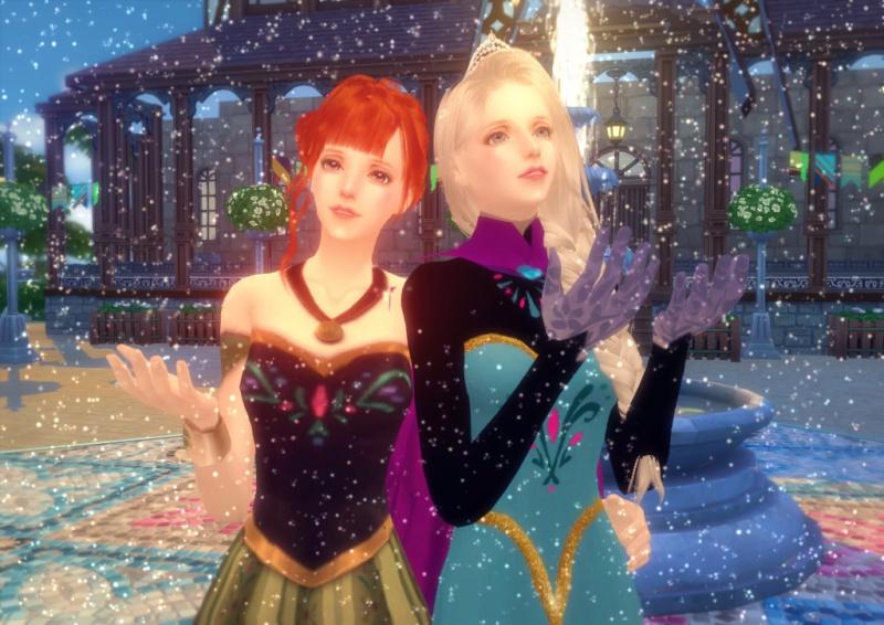 〔Sims4〕「アナと雪の女王」エルサとアナ