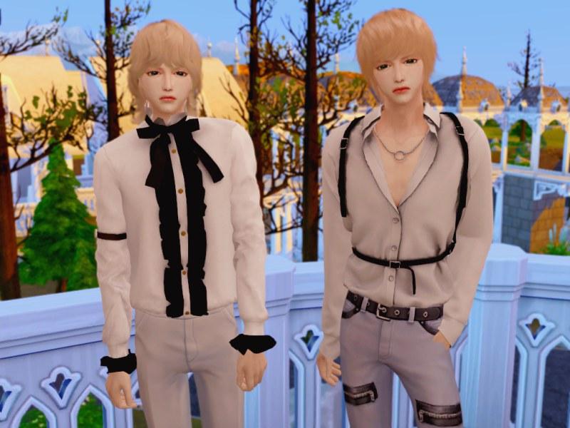 〔Sims4〕男性用シャツ2種類