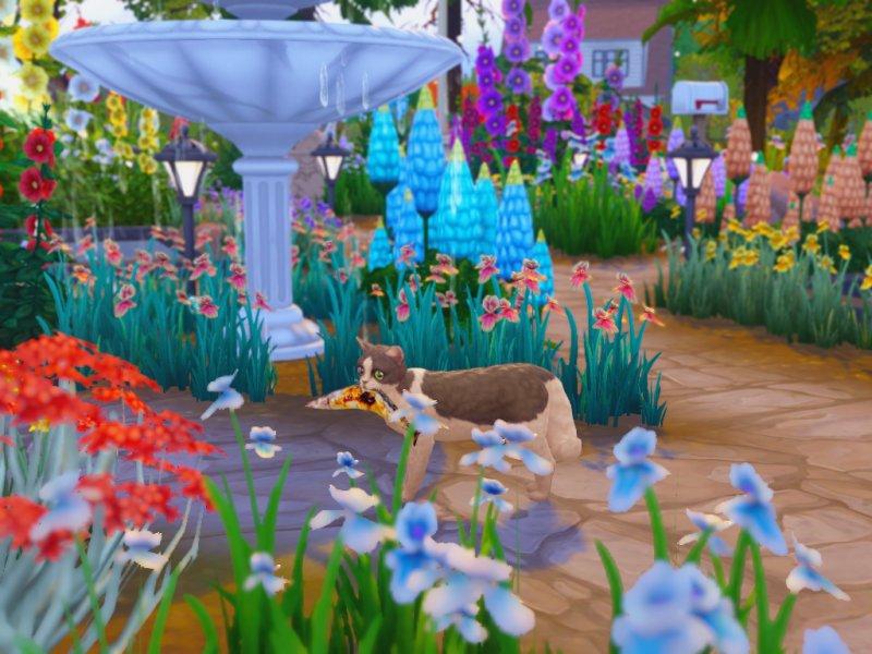 〔Sims4〕ネコちゃんとサンマ(アクセ)