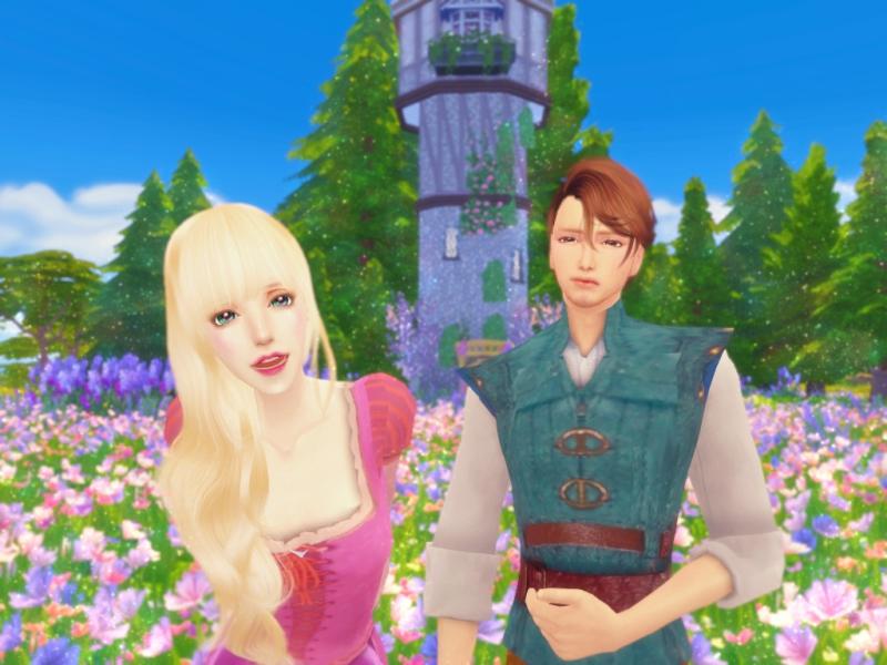 〔Sims4〕「塔の上のラプンツェル」ラプンツェルとユージーン(Part1)