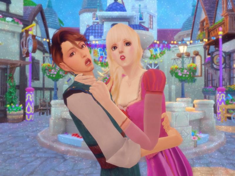 〔Sims4〕「塔の上のラプンツェル」ラプンツェルとユージーン(Part2)
