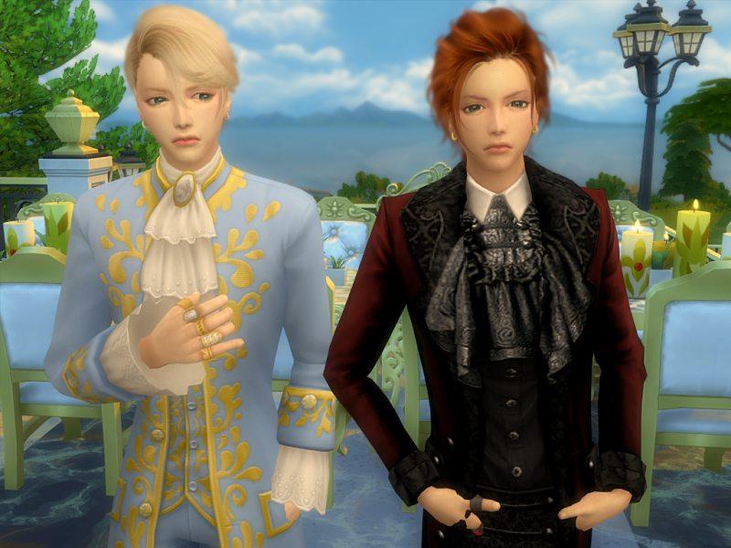 〔Sims4〕『Crowns』アーサーとルイ