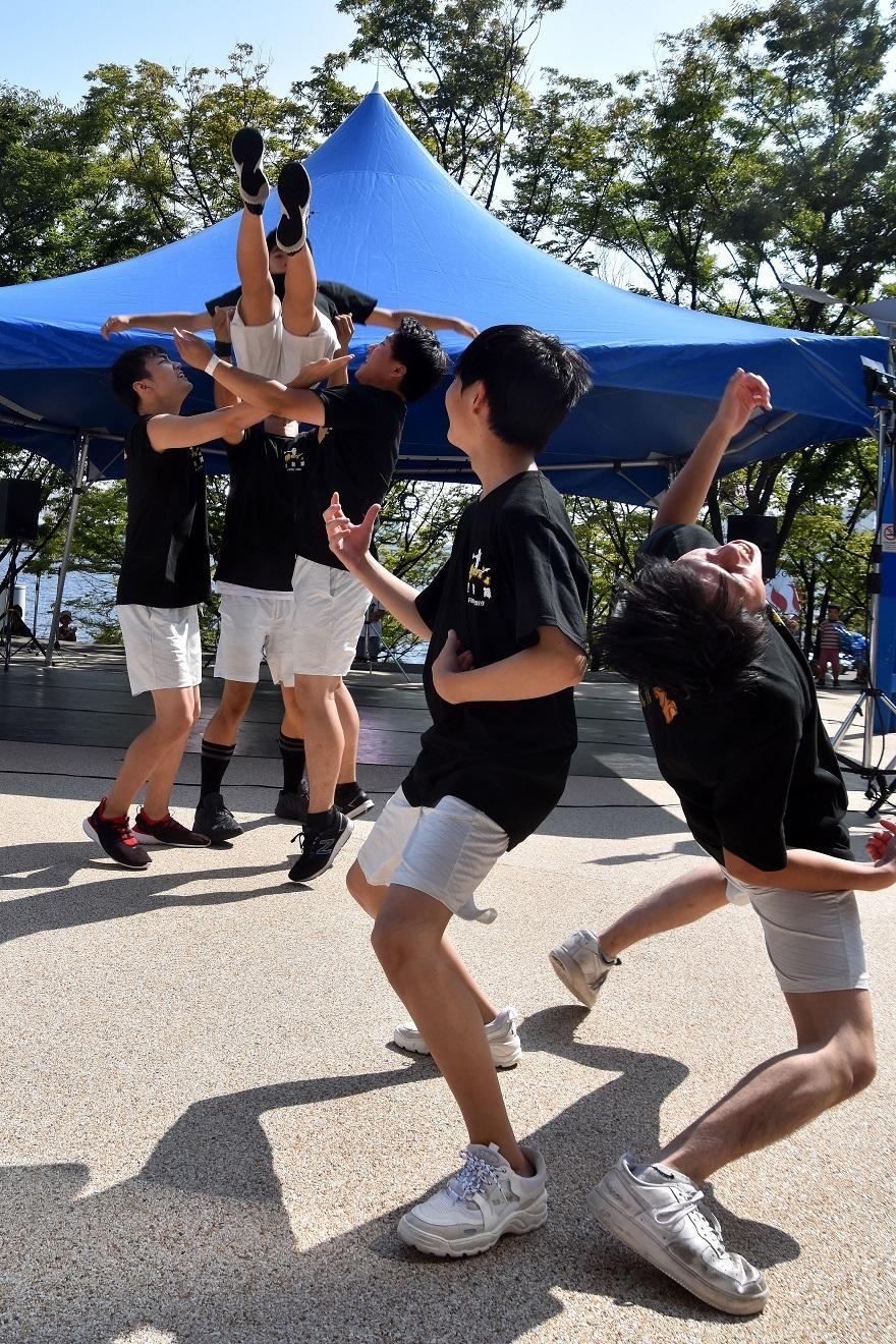 南港イベント8月・男子チア (1)