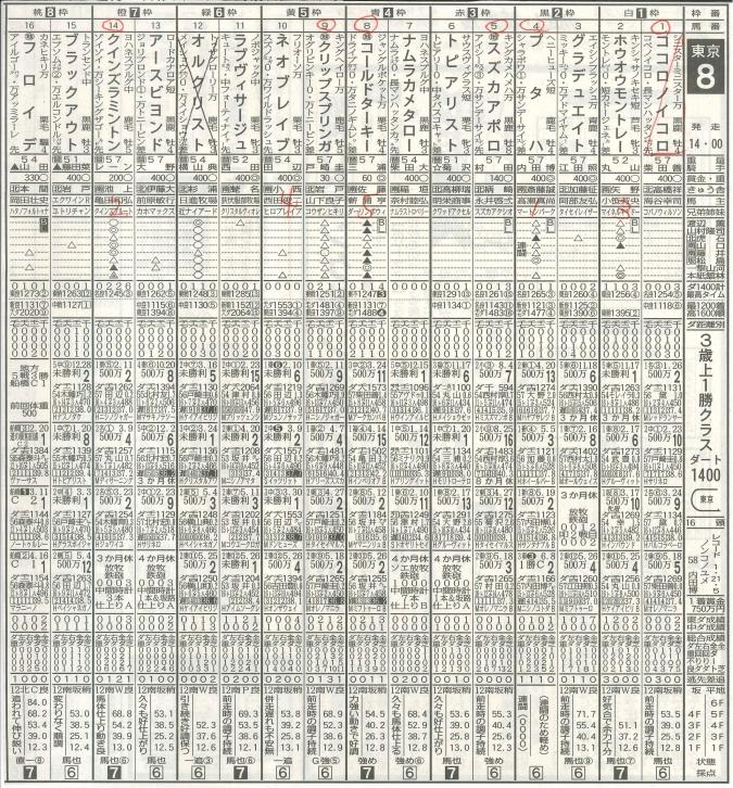 2019.06.15東京8R新聞