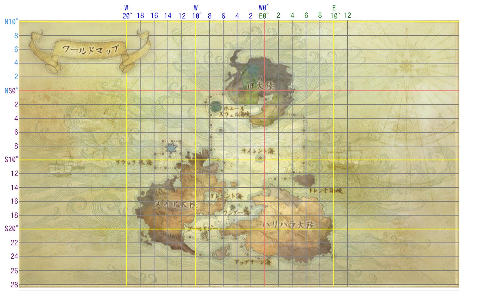 ワールドマップ 偶数線のみ