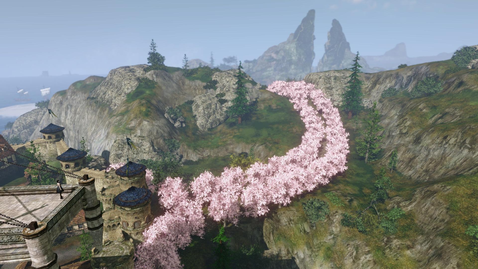 桜並木1_飛行船発着場から