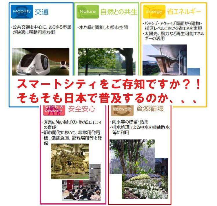 20180924スマートシティをご存知ですか?!そもそも日本で普及するのか、、、