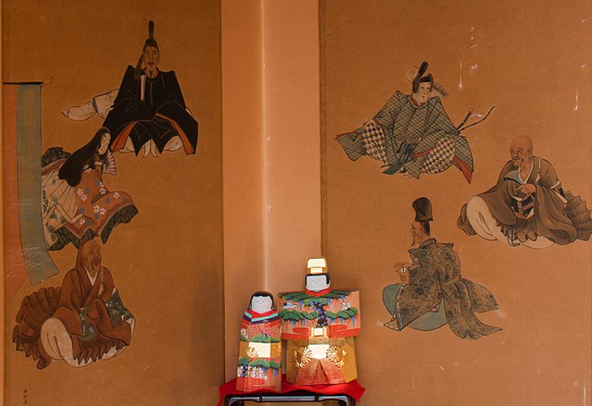 加茂船屋の雛祭 六歌仙屏風