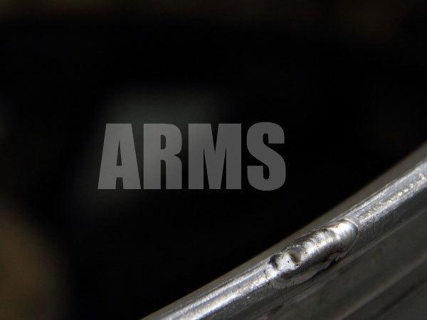 ホイールリムをアルミ溶接で修復