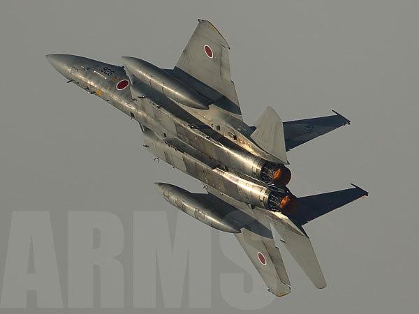 航空祭のF-15 アフターバーナー