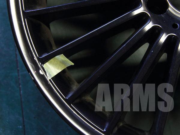 AMGホイールをマットブラックに塗装