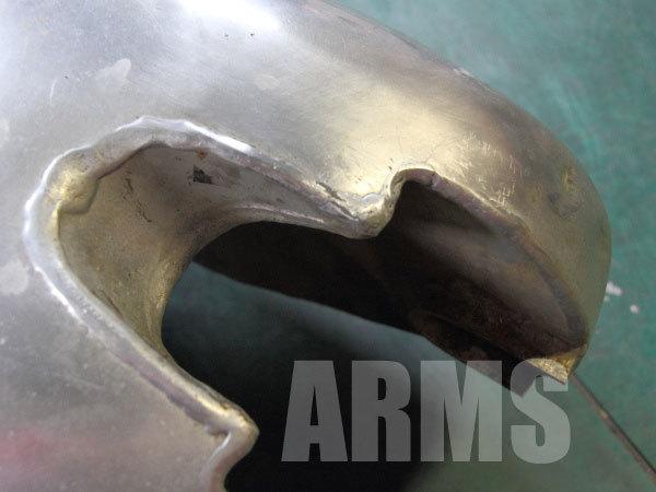 アルミタンクのクラック修理