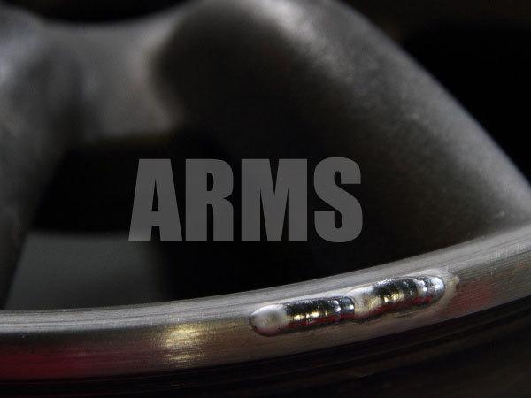 ホイールリムの欠けた部分をアルミ溶接
