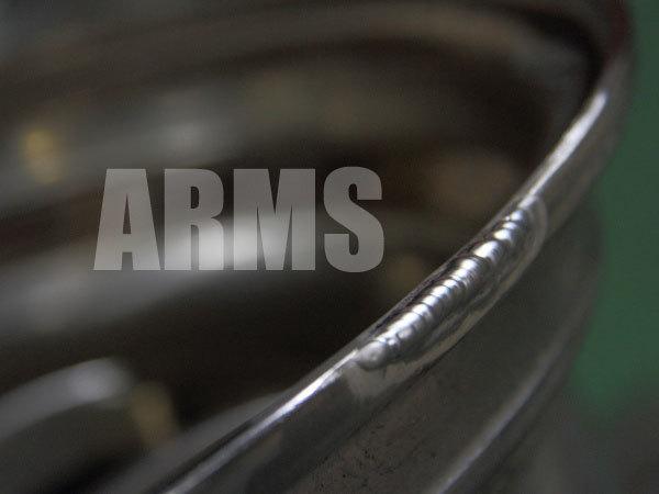 削れたホイールリムをアルミ溶接にて修復