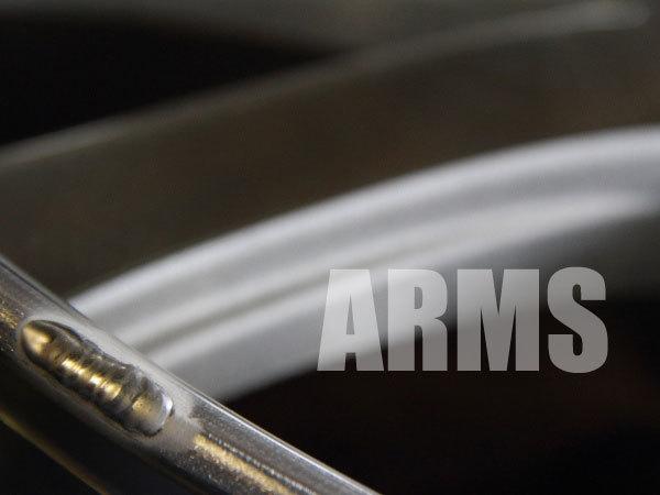リムの傷をアルミ溶接にて修理