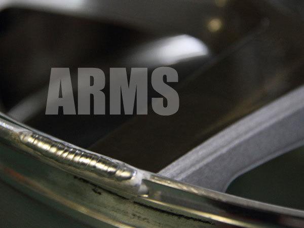 ホイールリムをアルミ溶接修理