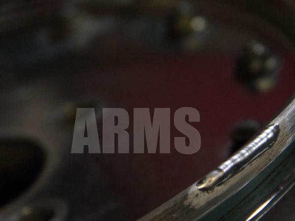 アルミ溶接で削れた部分を修復する