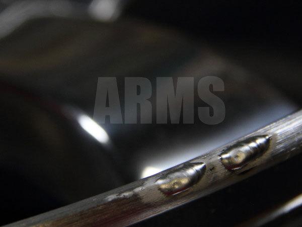 ガリ傷のアルミ溶接修復