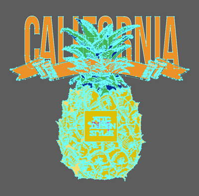 -shirt Pineapple California