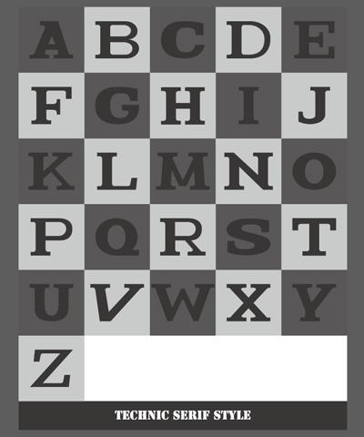 ロゴ素材 39テクニックセリフ