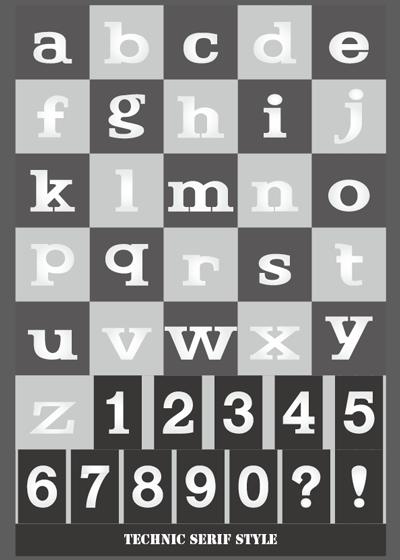 ロゴ素材 40テクニックセリフ