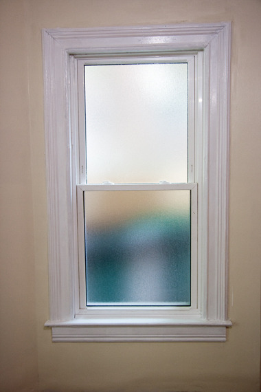 傾きを直した窓