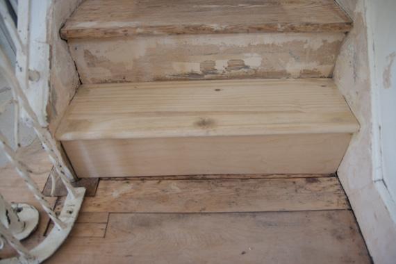階段板修理後