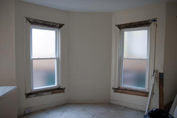 窓モールディング修理