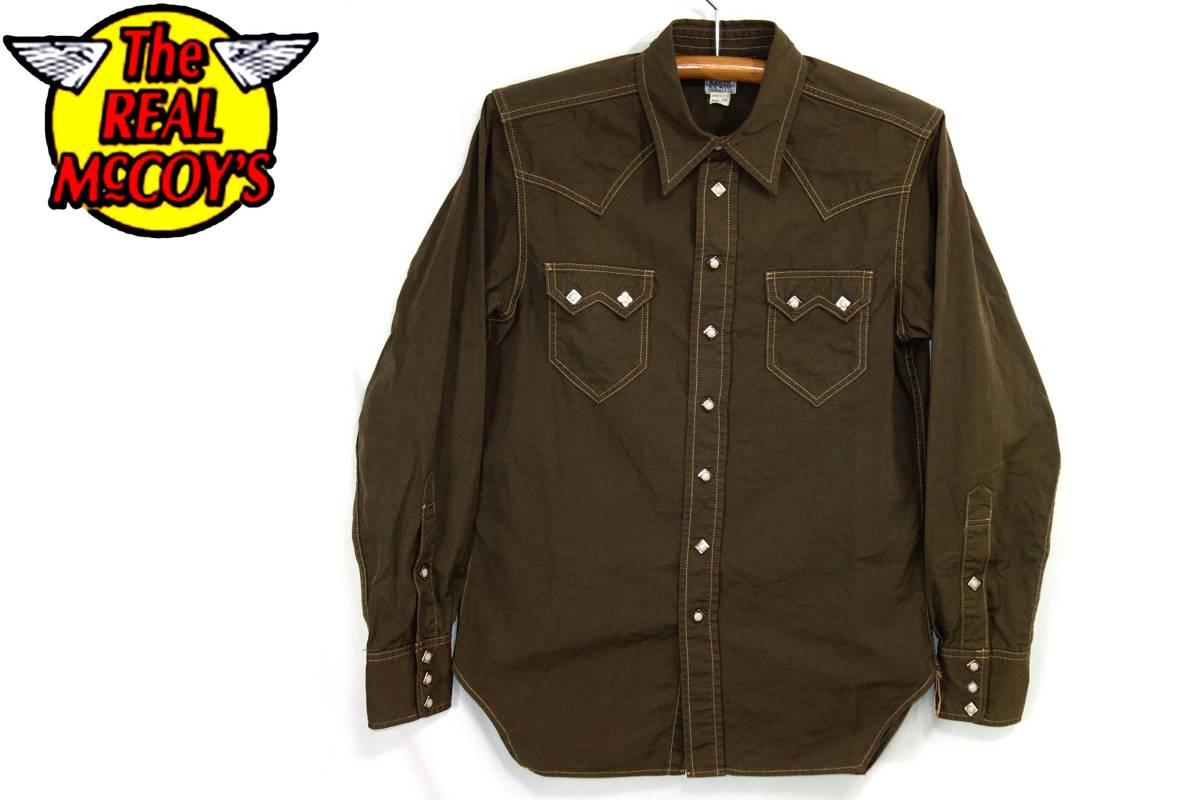 ザリアルマッコイズTheREALMcCOYSリアルマッコイズ600RANCH301S長袖シャツ15カーキ/ウエスタンカウボーイライン