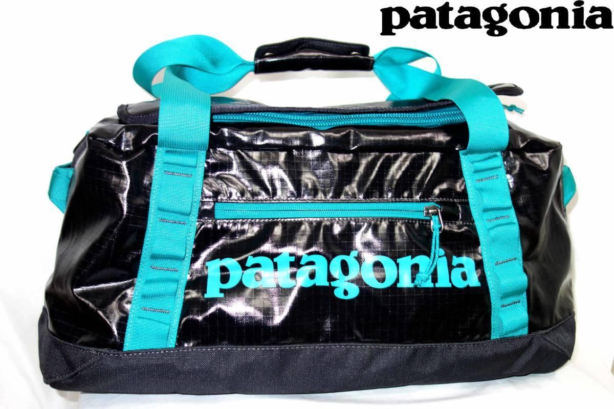 パタゴニアPATAGONIAブラックホールダッフルバッグBLACKHOLEDUFFLE45L黒青49336