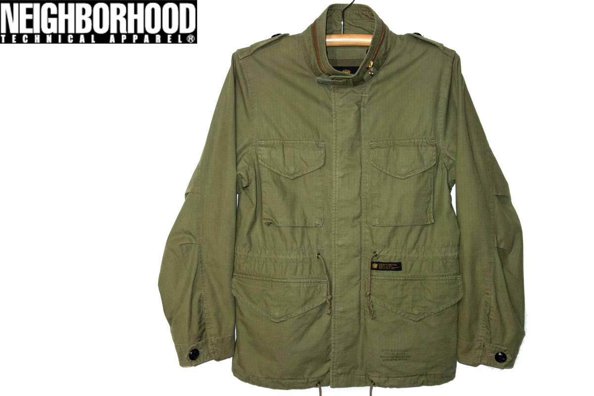 お買取商品ネイバーフッドNEIGHBORHOOD美品16SSネイバーフッドM-65ジャケットSミリタリーフライトジャケット