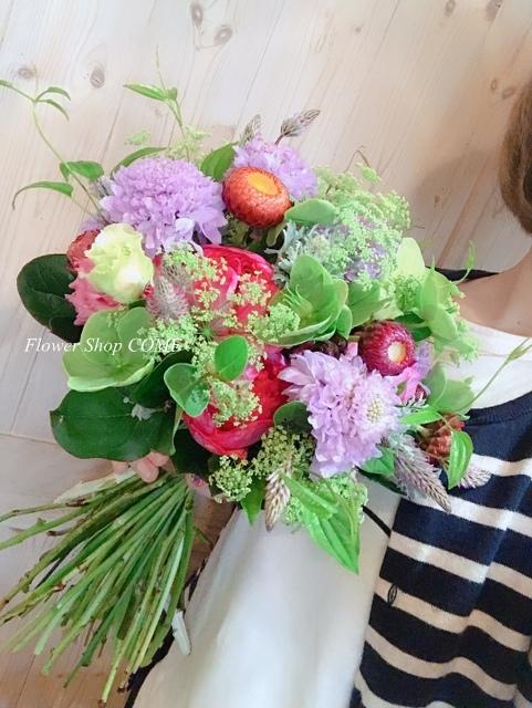 花束 ナチュラル ブーケ かわいい 自然 野花 サプライズ 誕生日