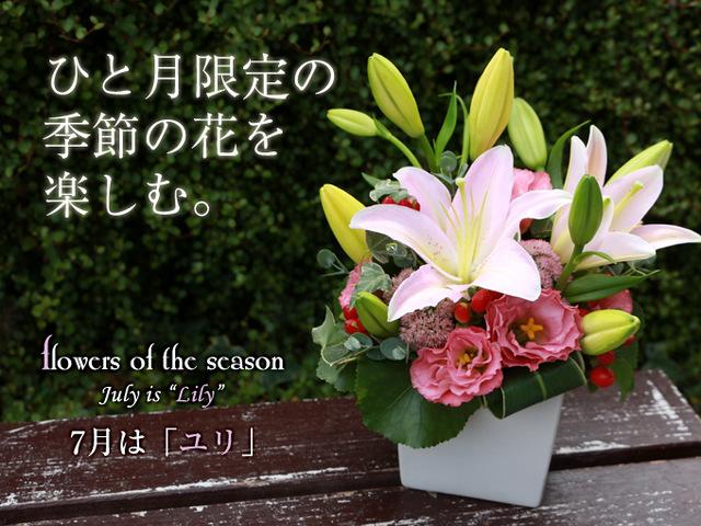 ユリ 季節 花 梅雨 7月 誕生日 誕生花