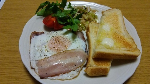 自宅の朝食
