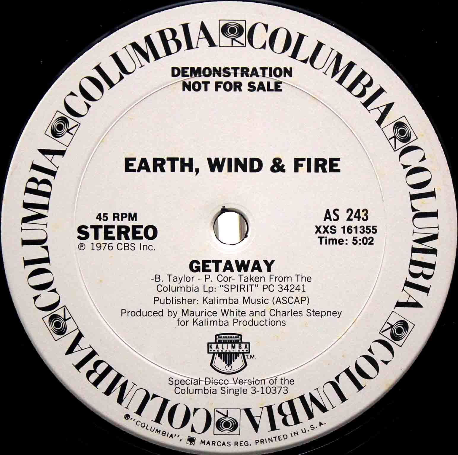 Earth Wind Fire getaway US 02