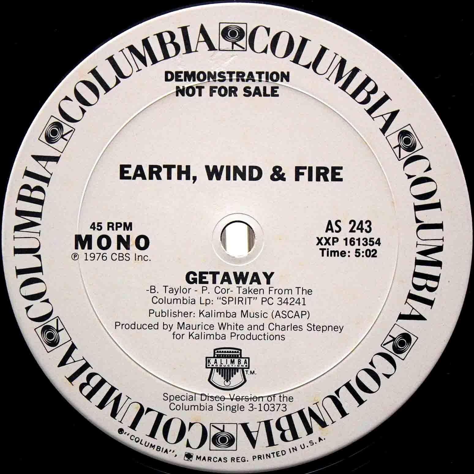 Earth Wind Fire getaway US 03