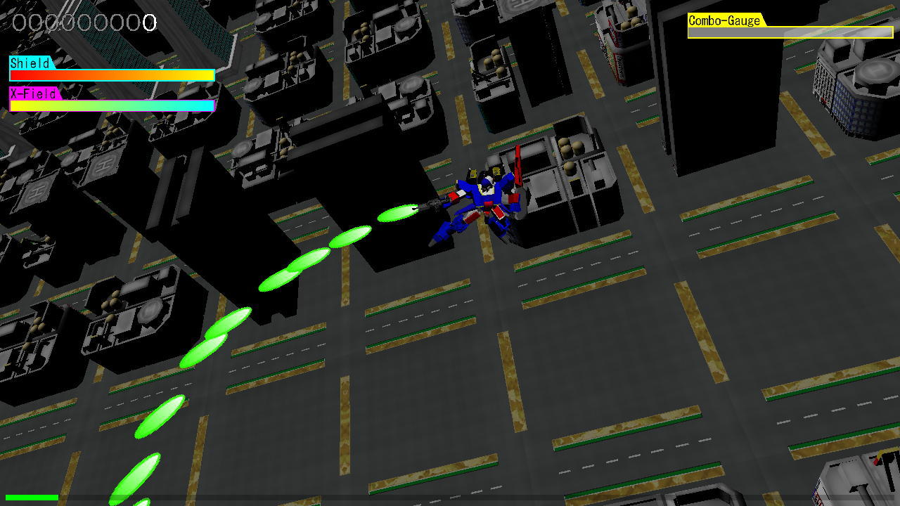 ロボット形態での全方向攻撃