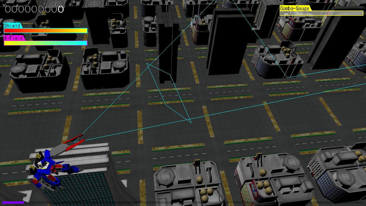 ロボット形態でのレンジ攻撃範囲表示